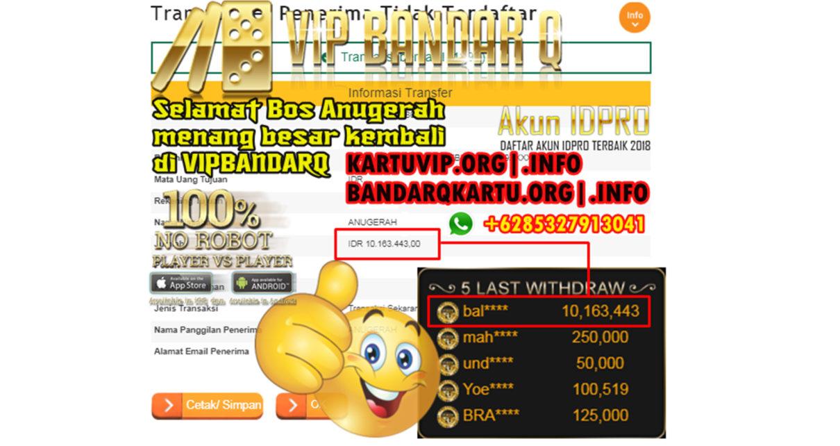 Menang Jutaan Rupiah di VipBandarQ