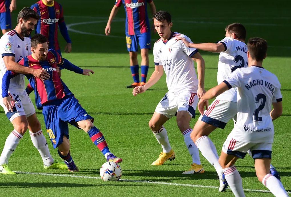 Barca Pesta Gol ke Gawang Osasuna di Camp Nou.
